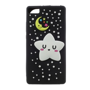 Luminous Glow Stars Silicone Protective Cases for Huawei P8 Lite - Black