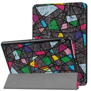 Patterned Anti-scratch PU Leather Protective Stand Cover  for Huawei MediaPad T3 10 - Colorful Pattern