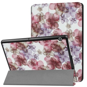 Patterned Anti-scratch PU Leather Protective Stand Cover  for Huawei MediaPad T3 10 - Flowers