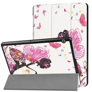Patterned Print PU Leather Protective Stand Cover  for Huawei MediaPad T3 10 - Girl with Wings