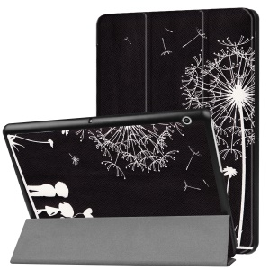 Patterned Anti-scratch PU Leather Protective Shell with Stand  for Huawei MediaPad T3 10 - Two People