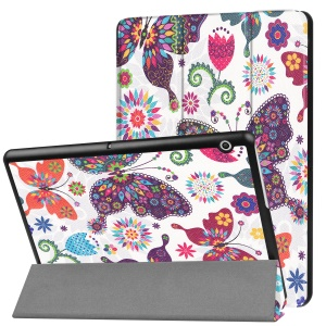 Patterned PU Leather Protective Stand Folding Cover  for Huawei MediaPad T3 10 - Butterflies