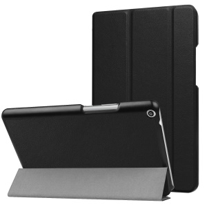 Tri-fold Leather Tablet with Stand for Huawei MediaPad T3 8.0 - Black
