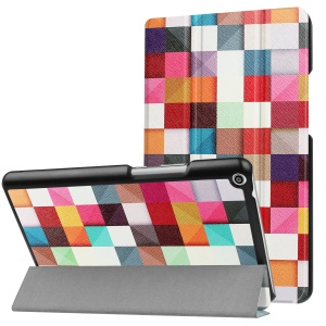 Patterned Anti-scratch PU Leather Protective Stand Cover  for Huawei MediaPad T3 8.0 - Colorful Grids