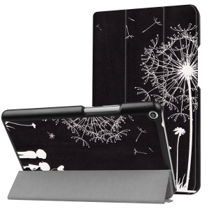 Patterned Anti-scratch PU Leather Protective  Stand Casing for Huawei MediaPad T3 8.0 - Two People