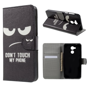 Patterned Stand Wallet Leather Flip Case for Huawei Honor 6C - Do Not Touch My Phone
