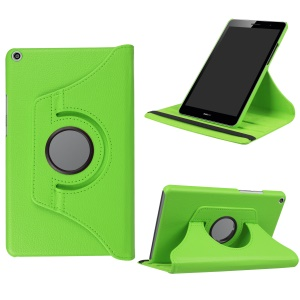 Litchi Skin Leather 360 Degree Rotary Stand Tablet Protective Cover for Huawei MediaPad T3 8.0 - Green