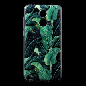Ultra-thin Pattern Printing TPU Mobile Phone Shell for Huawei Honor 6A / Honor 5C pro - Green Plant