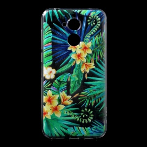 Ultra-thin Pattern Printing TPU Protective Cover for Huawei Honor 6A / Honor 5C pro - Yellow Flowers