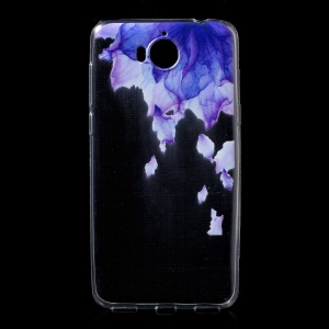 Ultra Thin Patterned Soft TPU Protective Phone Shell for Huawei Y5 (2017) / Y6 (2017) - Purple Flower