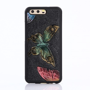 3D Imprint Pattern TPU + PC Phone Cover for Huawei P10 - Colorful Butterflies