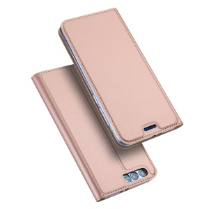 DUX DUCIS Skin Pro Series PU Leather Stand Phone Cover with Card Holder for Huawei Honor 9 - Rose Gold