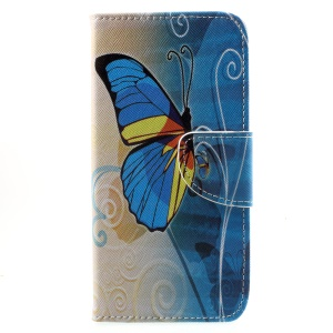 Pattern Printing Wallet Leather Stand Mobile Case for Huawei Honor 6A / Honor 5C pro - Beautiful Butterfly