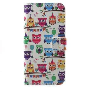 Pattern Printing Wallet Leather Stand Cell Phone Cover for Huawei Honor 6A - Lovely Little Owls