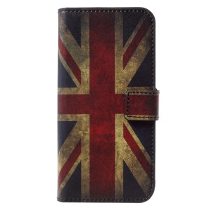 Pattern Printing Wallet Leather Stand Mobile Casing Accessory for Huawei Honor 6A - British flag