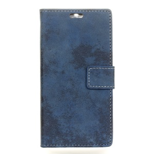 Retro Style Wallet PU Leather Protection Case Shell for Huawei Honor 9 - Blue
