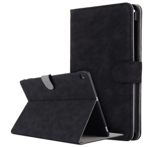 Vintage Style Crazy Horse Leather Stand Wallet Case for Huawei MediaPad M3 Lite 10 10.1 inch - Black