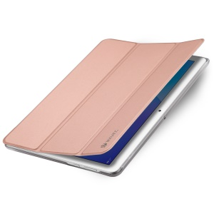 DUX DUCIS Skin Pro Series Auto-wake/sleep Tri-fold Leather Cover for Huawei MediaPad T3 10 - Rose Gold