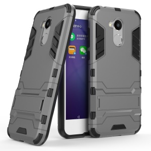 Cool Guard Plastic TPU Back Casing with Kickstand for Huawei Honor 6A - Grey