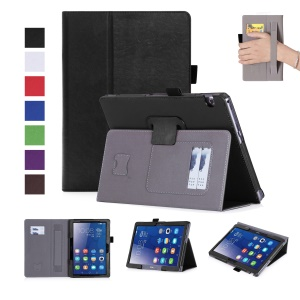 PU Leather Card Holder Stand Tablet Cover for Huawei MediaPad T3 10/Huawei Honor Play Pad 2 9.6-inch - Black