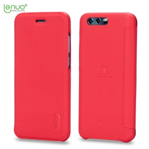LENUO Ledream Series Leather Flip Case Accesorio para Huawei Honor 9 - rojo