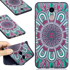 Soft Embossed Pattern Printing TPU Mobile Phone Shell for Huawei Y7 Prime / Enjoy 7 Plus - Ancient Painting