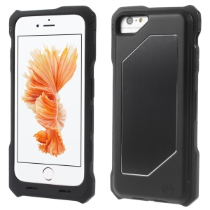 IFANS MFI Certified 4000mAh Battery Charger Case for iPhone 6 Plus / 6s Plus with Metal Plate - Black
