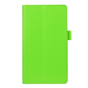 Litchi Grain 2-fold Stand Leather Case for Lenovo Tab 2 A7-20F - Green