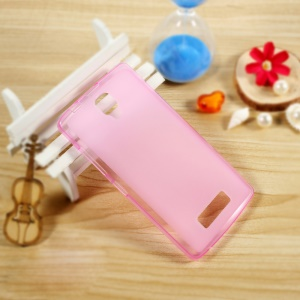 Double-sided Matte Soft TPU Cover Shell for Lenovo A2010 - Rose