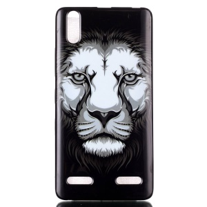 Protective IMD TPU Gel Cover for Lenovo A6000/A6000 Plus/A6010/A6010 Plus - Lion
