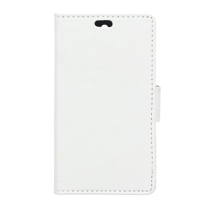 Wallet Stand Leather Phone Case for Lenovo A1000 - White