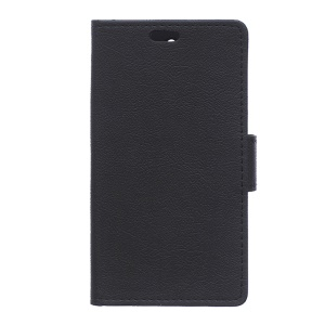 Flip Textured Wallet Stand Leather Phone Case for Lenovo A2010 - Black