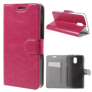 Crazy Horse PU Leather Case Cover for Lenovo Vibe P1m - Rose