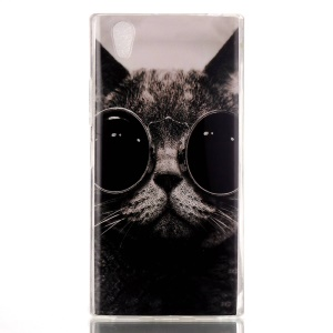 Soft IMD TPU Back Case for Lenovo P70 - Adorable Cat Wearing Glasses