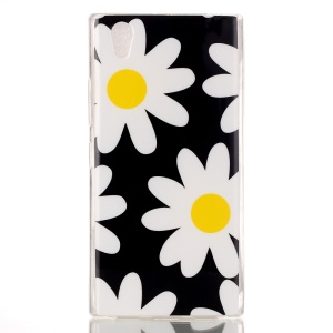 Soft IMD TPU Shell Case for Lenovo P70 - White Flowers