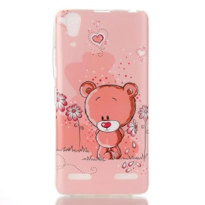 Soft IMD TPU Phone Shell for Lenovo A6000/A6000 Plus/ A6010/A6010 Plus - Adorable Bear