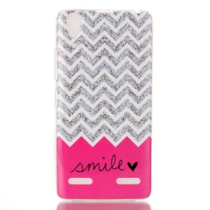 Soft IMD TPU Back Cover for Lenovo A6000/A6000 Plus/ A6010/A6010 Plus - Chevron and Smile