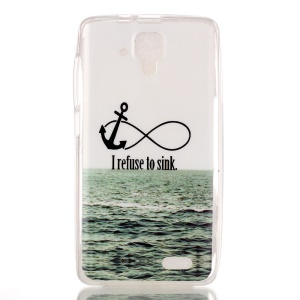 Soft IMD TPU Shell Case for Lenovo A536 - Anchor and I Refuse to Sink