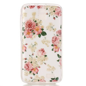 Soft IMD TPU Case for Lenovo A328 - Elegant Flowers