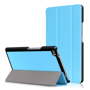 Tri-fold Stand Flip Leather Shell for Lenovo Tab4 8 TB-8504F/N - Baby Blue