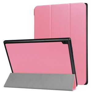 Flip PU Leather Tri-fold Stand Tablet Case for Lenovo Tab 4 10 - Pink