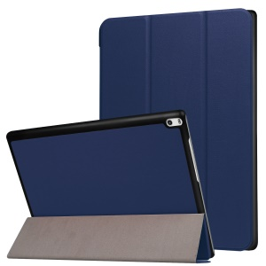 Tri-fold Stand Leather Protective Case for Lenovo Tab 4 10 Plus 10.1-inch - Dark Blue
