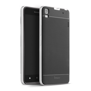 IPAKY Hybrid PC Frame + TPU Case for Lenovo A7000 / A7000 Plus/ K3 Note K50-t5 - Black / Silver