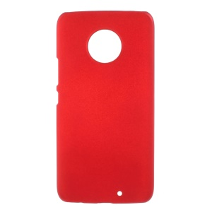 For Motorola Moto X4 Rubberized Plastic Hard Protective Mobile Phone Casing - Red
