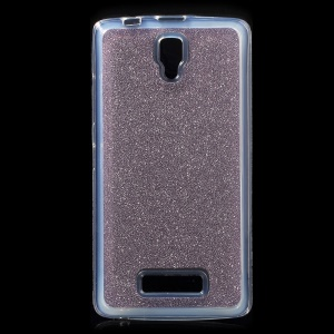 Shimmering Powder Coated TPU Case for Lenovo A2010 - Purple