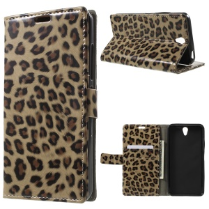 Leopard Pattern Wallet Leather Stand Case for Lenovo Vibe S1
