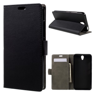 For Lenovo Vibe S1 Leather Wallet  Cover - Black