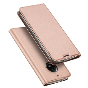 DUX DUCIS Skin Pro Series Card Holder Stand Leather Case for Motorola Moto G5S - Rose Gold