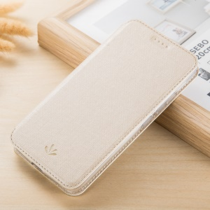 VILI DMX Style for Motorola Moto G5S Side Folio Leather Stand Phone Cover Shell - Beige