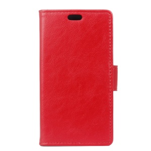 Crazy Horse Leather Card Slots Cover for Lenovo A6000/A6000 Plus/ A6010/A6010 Plus - Red
